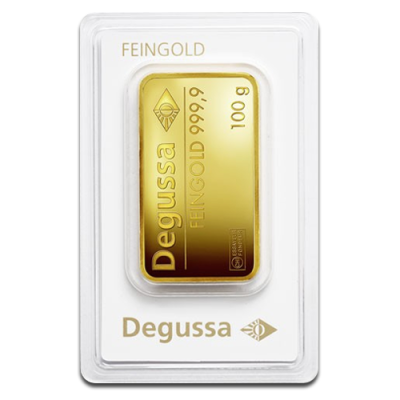 100g Gold Bar Degussa Coininvest Gold Bullion Gold Bullion Bars Gold Investments