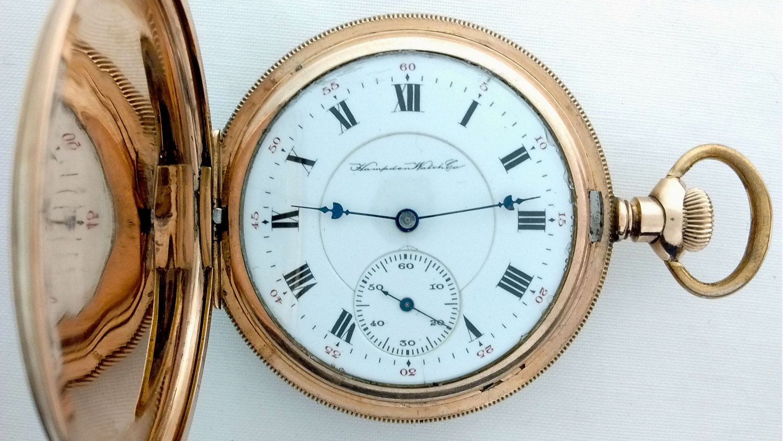 Advertising-print 1904 Dueber Hampden Pocket Watch Watch Case Vintage Original Ad