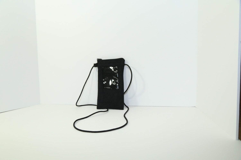ID phone case in textured black by JoyInTheBag on Etsy