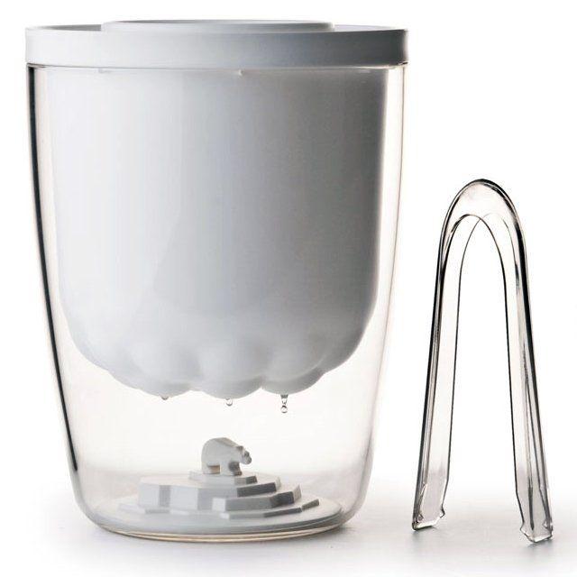 Polar Bear Ice Bucket. As the ice inside the bucket melts, rain drops will fall inside your polar bears habitat.