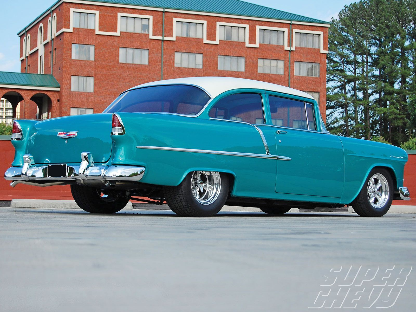 Randy kathie fryes 1955 chevy 210 side view