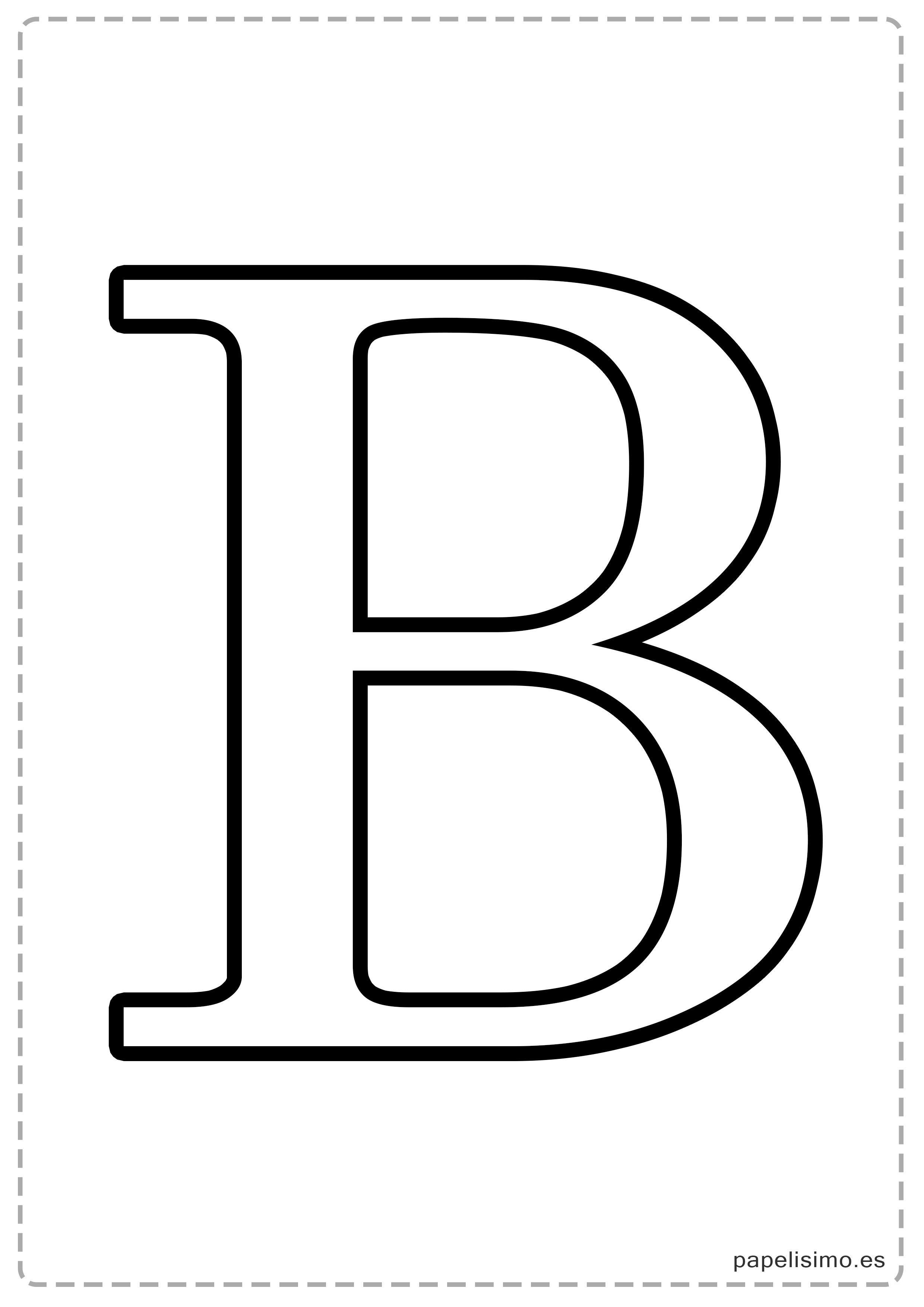 B-Abecedario-letras-grandes-imprimir-mayúsculas.jpg (2480×3508 ...