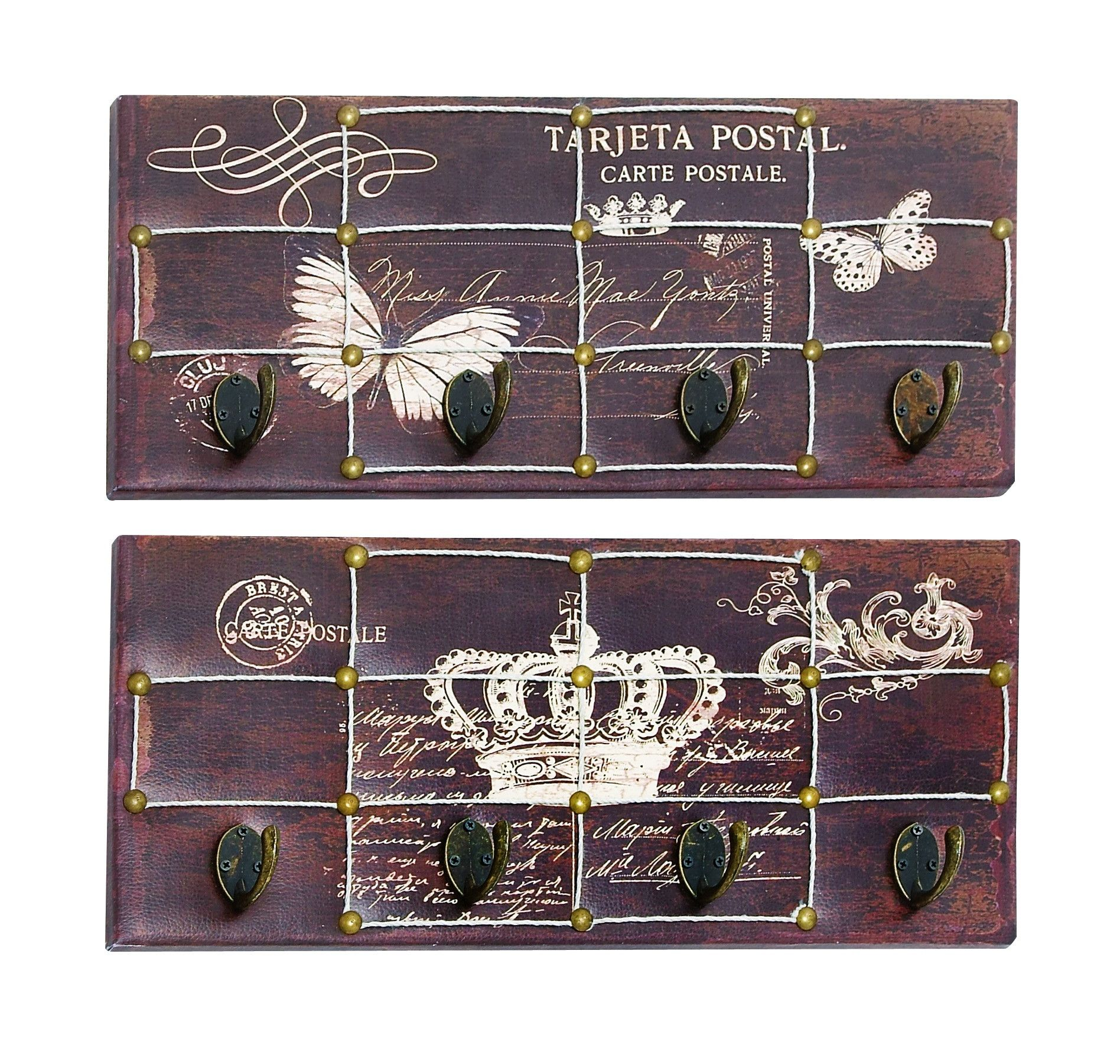 butterfly and crown themed wall hook panel harmony home decor