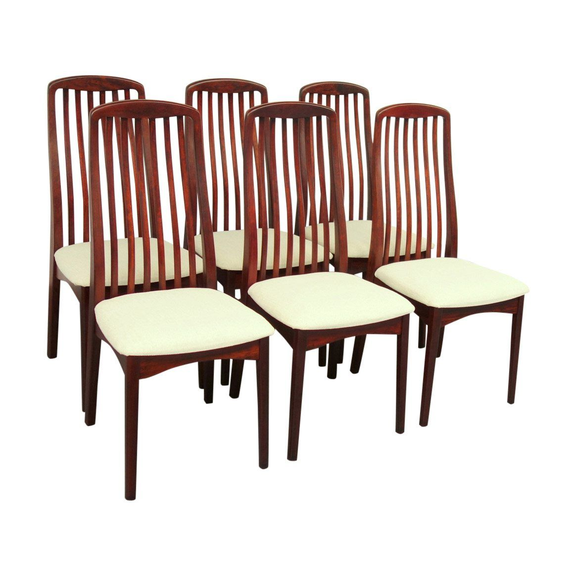 Swedish Mid Century Furniture Set Of Six Swedish Rosewood Dining Chairs By Svegards Markaryd
