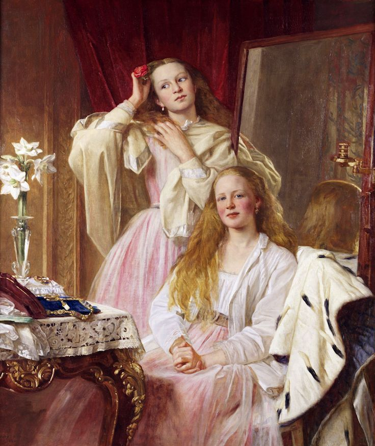 Emma and Federica Bankes of Soughton Hall, by Henry Tanworth Wells, 1869.  I'm In Heaven