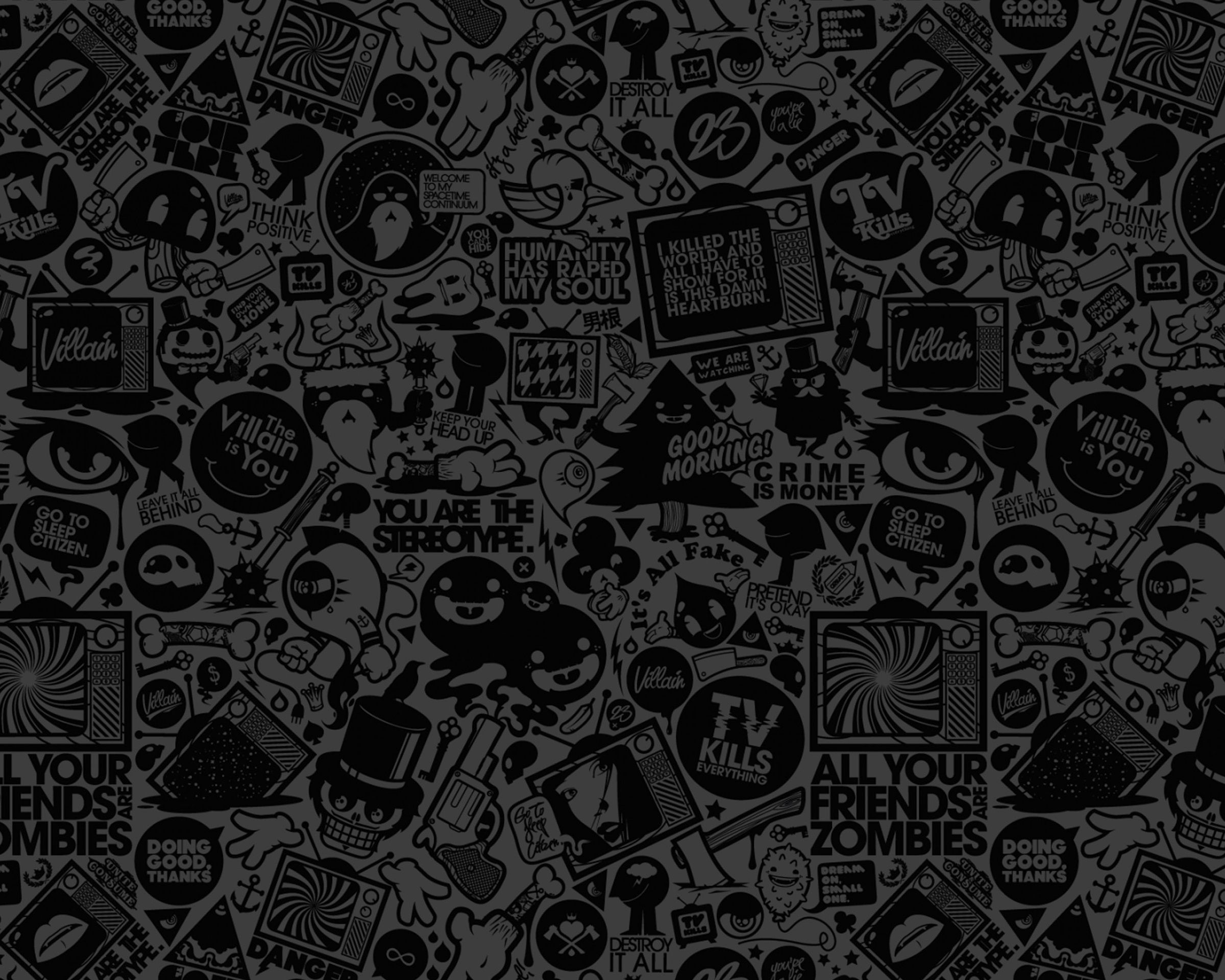 Art Black Pattern Background Android Wallpaper Mobile9 Mac Wallpaper Doodle Art Cool Wallpapers For Mac