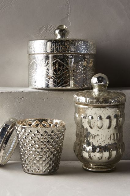 Coronation Vanity Canister Anthrofave Mercury Glass Bathroom