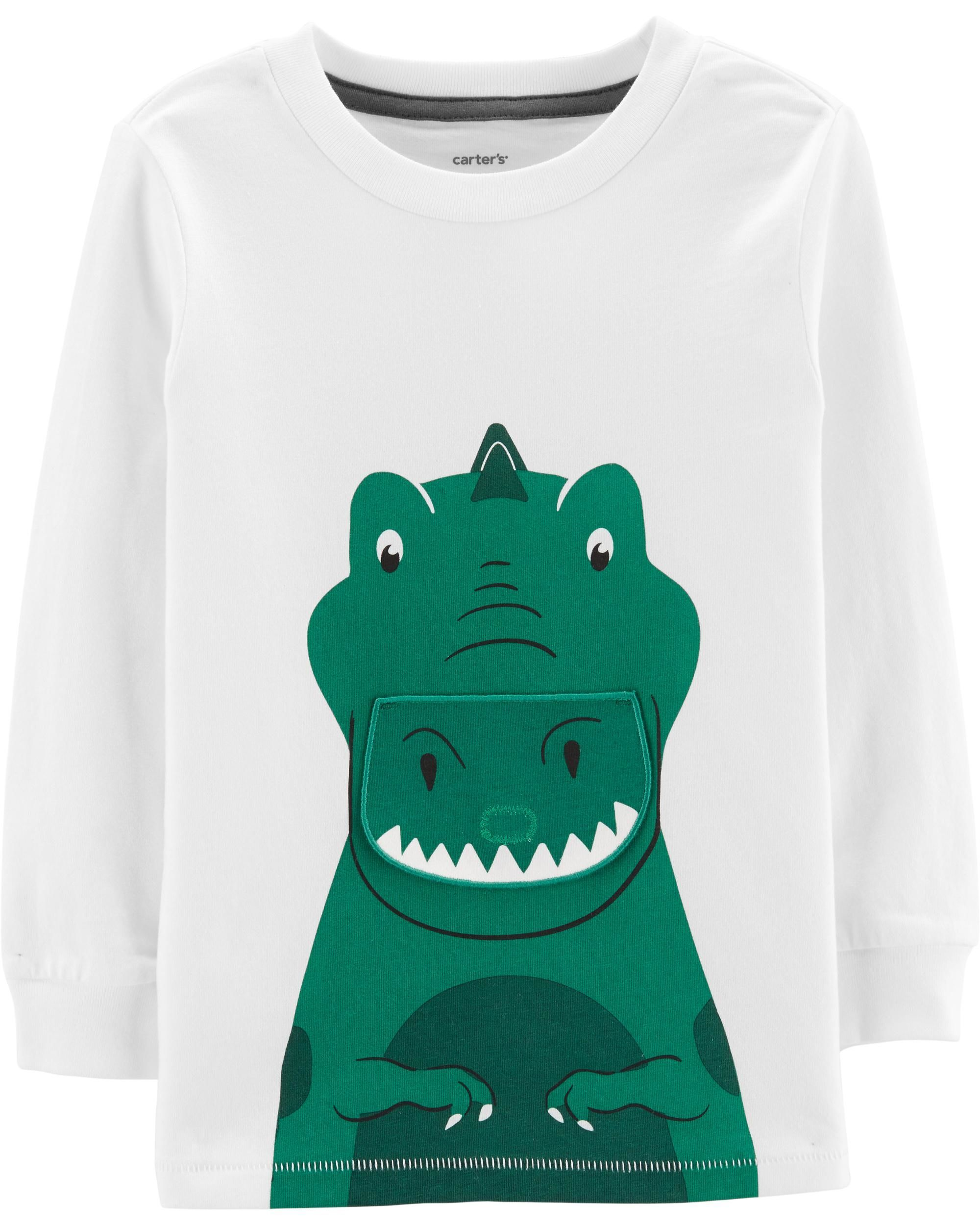 Dinosaur PeekABoo Flap Tee is part of Baby Clothes Dinosaur -  Dinosaur PeekABoo Flap Tee from Carters com  Shop clothing & accessories from a trusted name in kids, toddlers, and baby clothes