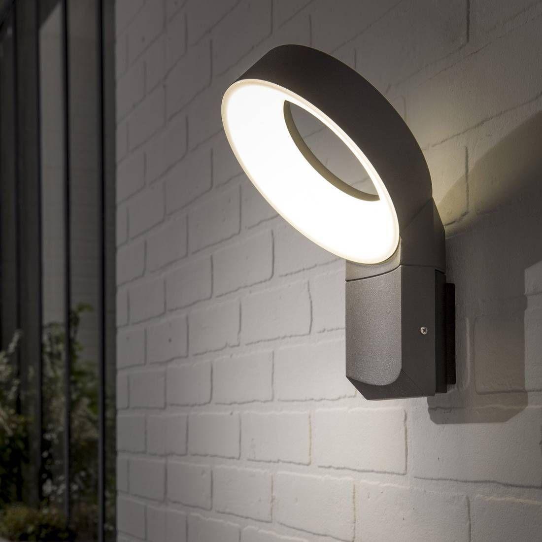 Applique D Exterieur Montante Led Aluminium Gris H35cm Lima Luminaire D Exterieur Inspi Eclairage Exterieur Eclairage Exterieur Mural Eclairage Exterieur Led