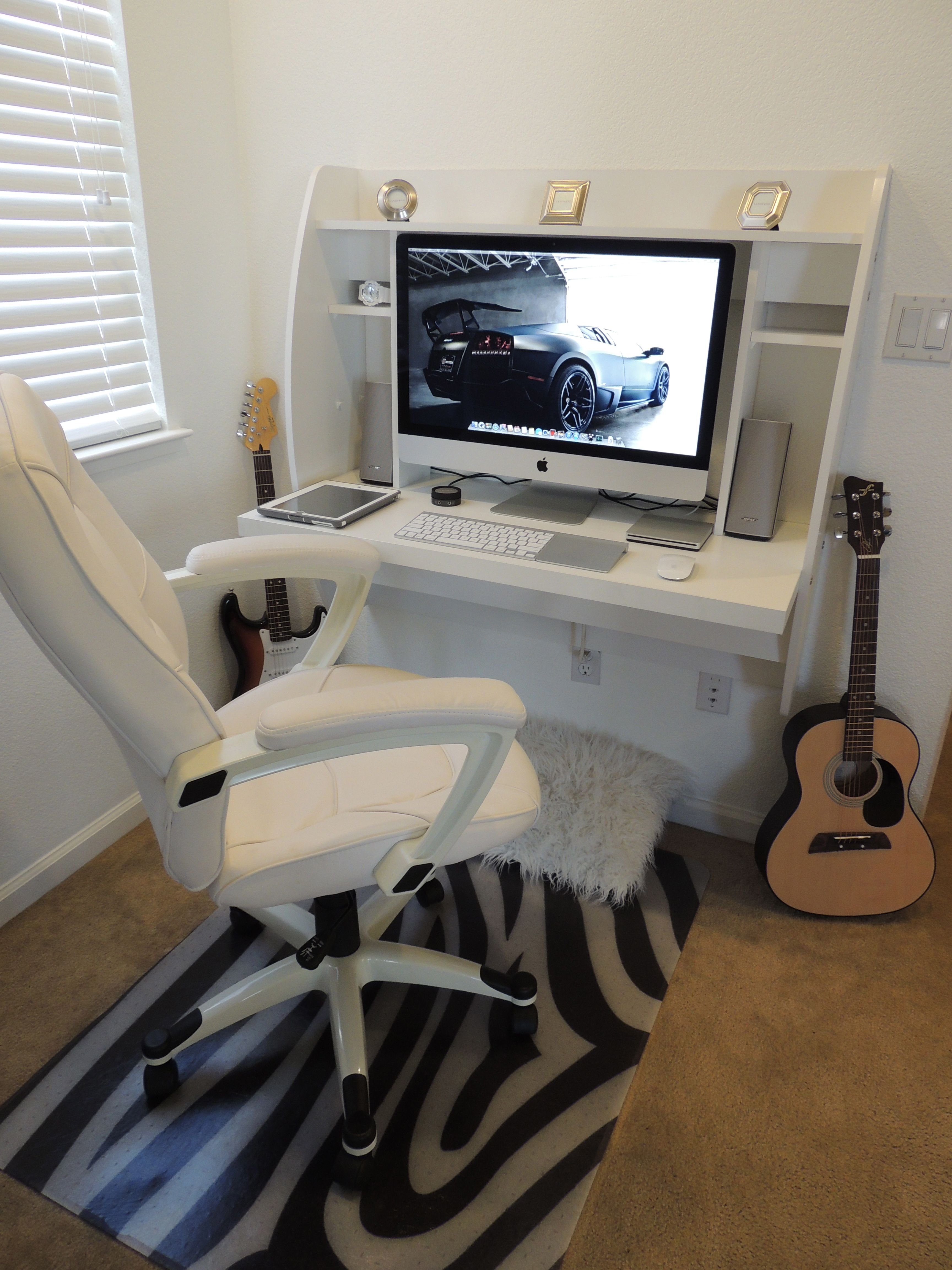 Outstanding Sweet Setup With White Floating Desk 27 Imac Mac Download Free Architecture Designs Barepgrimeyleaguecom