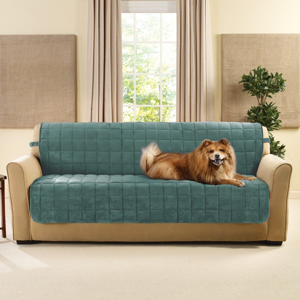 Deluxe Comfort Armless Sofa Furniture Cover One Piece Pet Furniture Cover Machine Washable Loveseat Slipcovers Furniture Covers Slipcovers