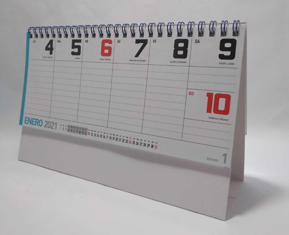 CALENDARIO SOBREMESA SERIE SEMANAL en 2020 | Calendario, Semanales