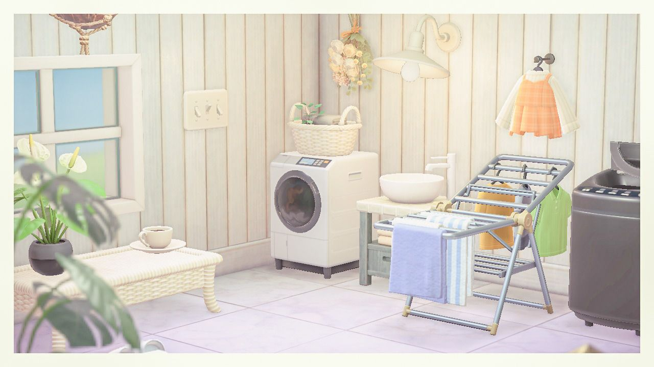Animal Crossing New Horizons Island Ideas — laundry room ... on Animal Crossing Room Ideas New Horizons  id=79068