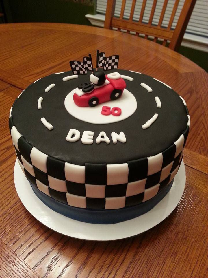Brilliant Race Car Race Track Checkered Flag Cake With Images Racing Funny Birthday Cards Online Unhofree Goldxyz