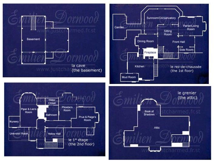 halliwell manor grundrisse traumh user und einrichtung. Black Bedroom Furniture Sets. Home Design Ideas
