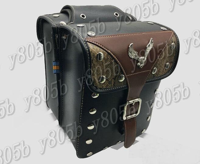 Motorcycle Saddle Bags Side Bag For Honda Shadow Spirit