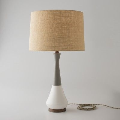 Caprice Lamp Gray Top White Bottom Lamp Lamp Inspiration Floor Lamp Table