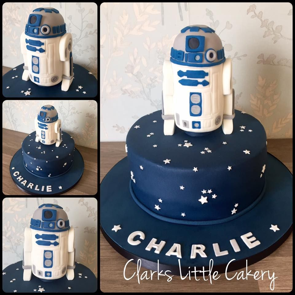 Any Star Wars Fans On This Morning An 8 Inch Round Chocolate Cake With Completely Edible R2d2 Hand Made Topper Starwars Cake Cakedecorating Bradford S