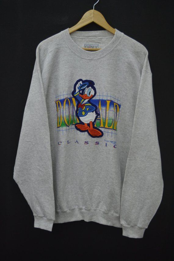 5bf05bf89ce8d DONALD DUCK Sweatshirt Vintage 90's Donald Duck Classic The Walt ...