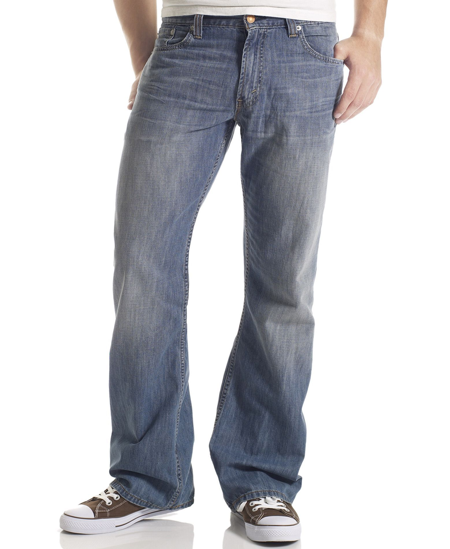 202873b844 Levi s 527 Slim Bootcut Fit Medium Chipped Wash Jeans