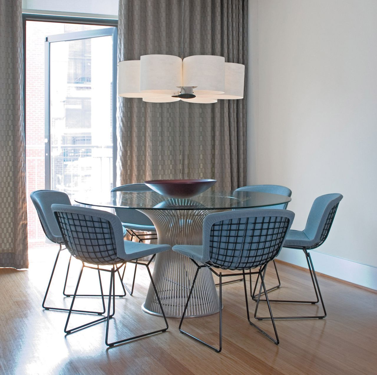 Bertoia Side Chair With Full Cover In Classic Boucle Designed By Harry Bertoia Bertoia Side Chair Platner Dining Table Warren Platner Dining Table