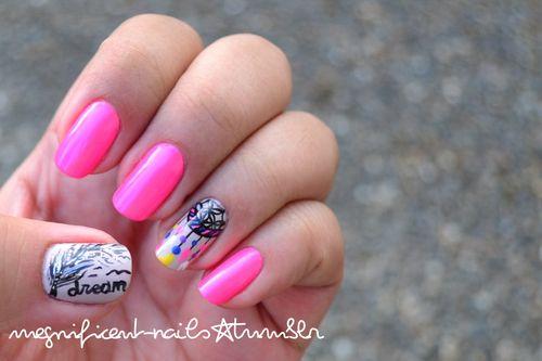 dream catcher nails :)