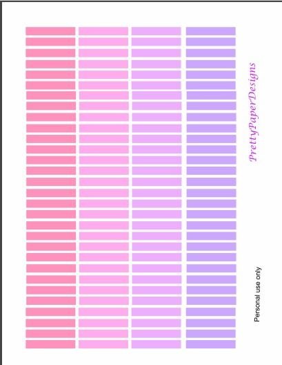 Free Printable! Pastel headers for your planner *Plan(ner) GLAM