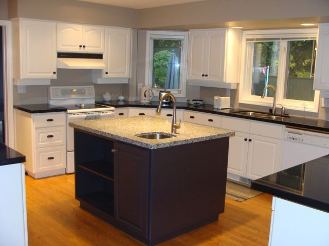 painting kitchen cabinets before and after | Vancouver Kitchen ...