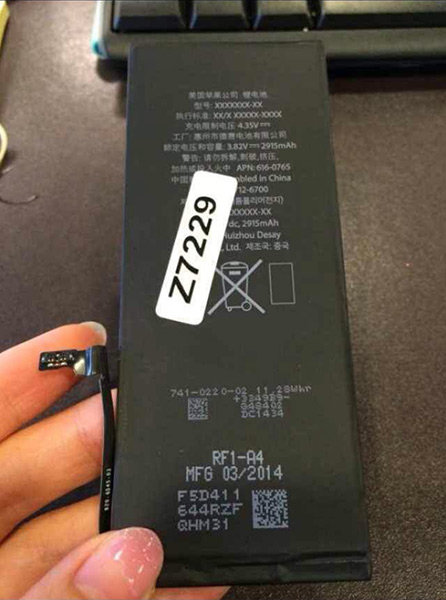 Sketchy report claims photos show 5.5-inch 'iPhone 6L' display, logic board and 2,915mAh battery.