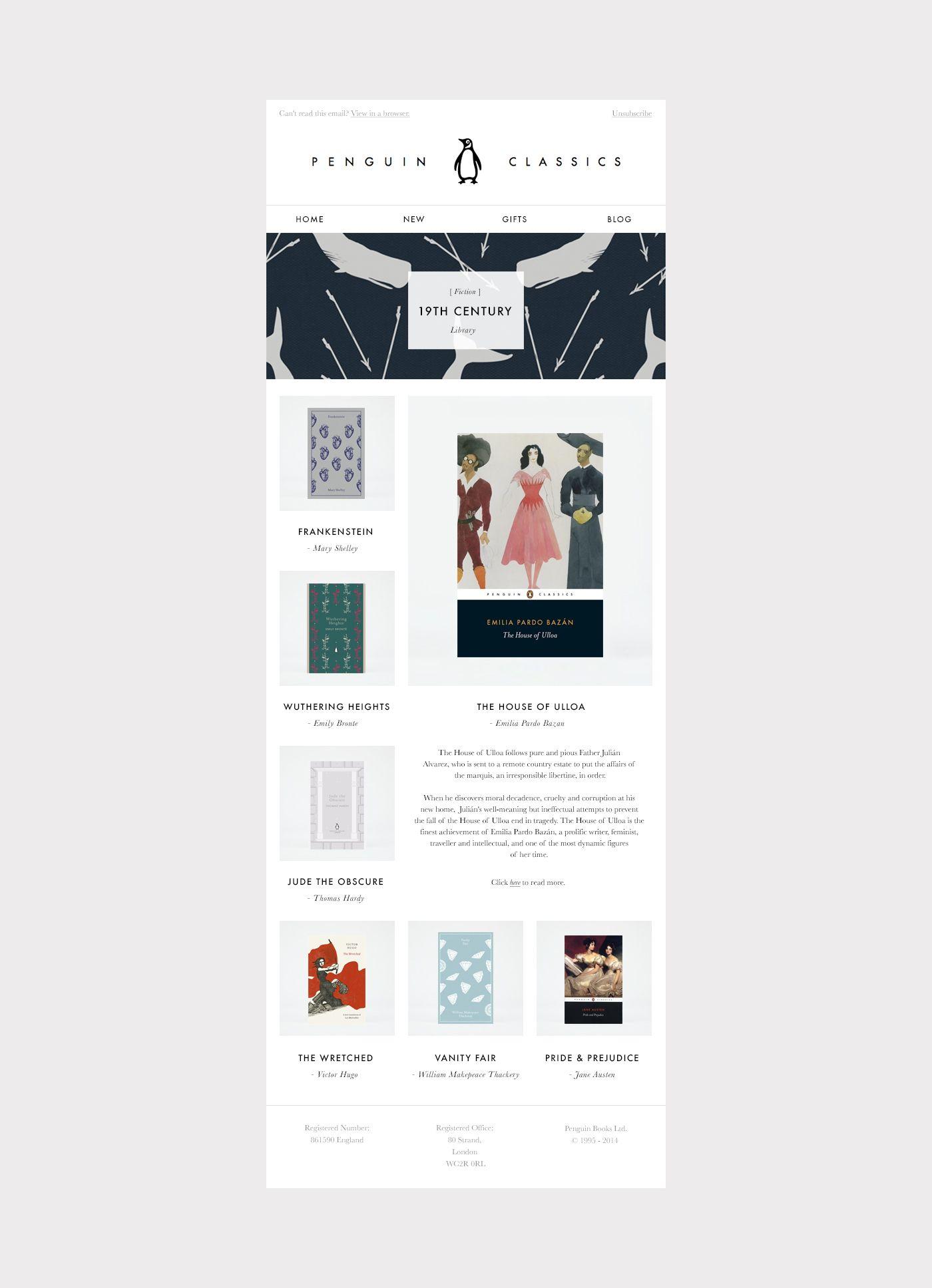 Infographics Ui Design Et Web Design: Penguin Classics Email Template 01 (With Images)