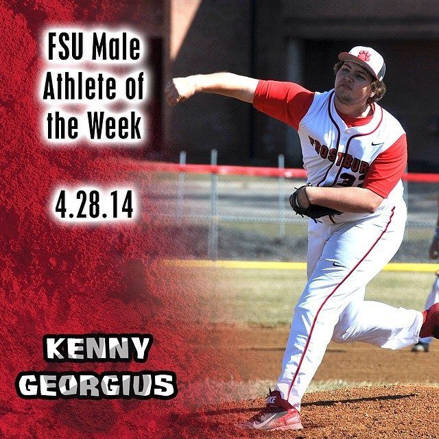 Instagram user @frostburgsports wants to congragulate Kenny Georgius on being named Male Athlete of the Week! #instaFrostburg