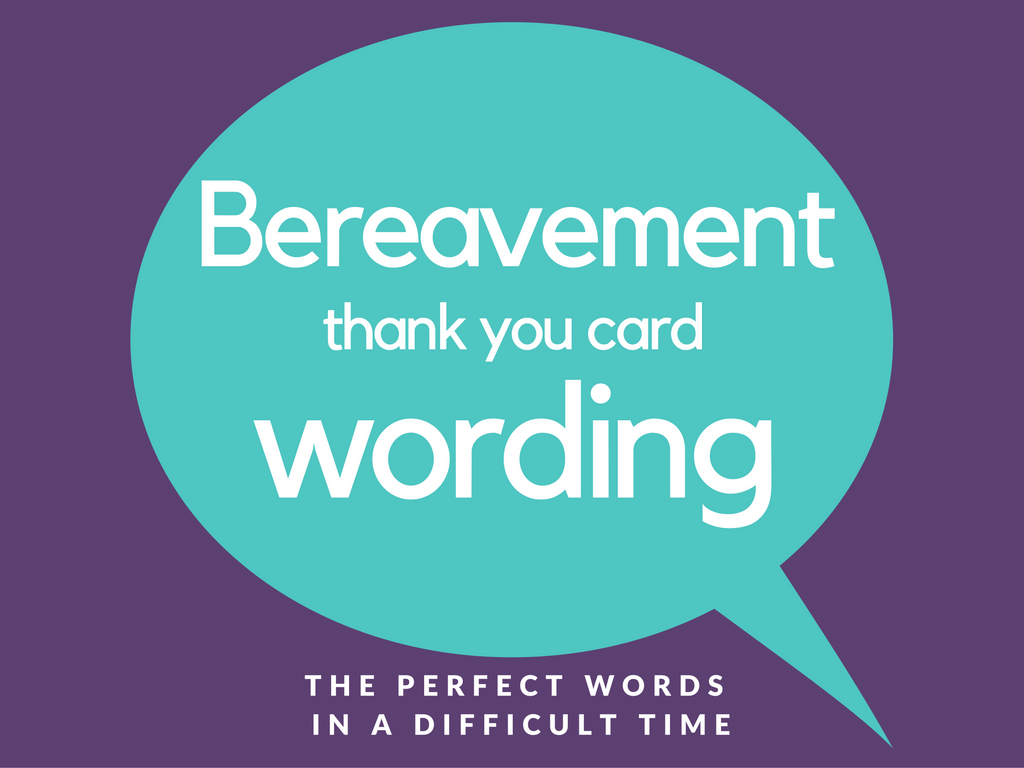 bereavement thank you