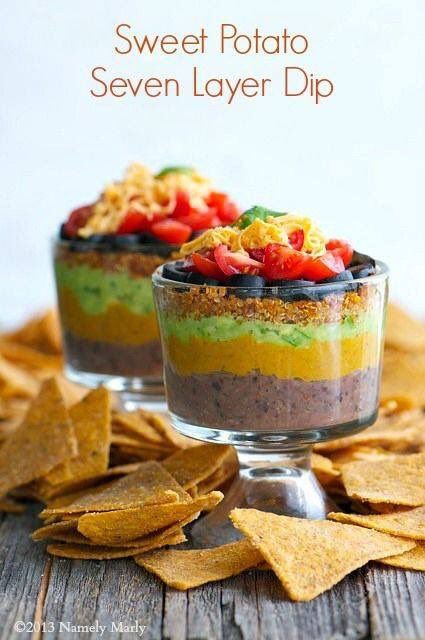 #SweetPotato Seven Layer Dip - #FallFavorite! Love this time of year!! http://bit.ly/1RTsHrv