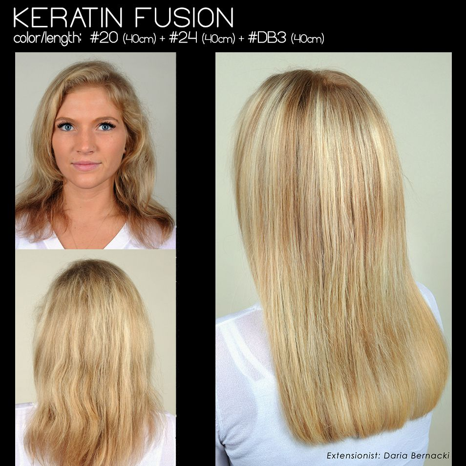 Partial Tony Odisho Keratin Fusion Extensions Application For