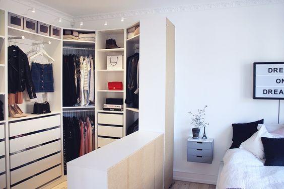 Perfecte Kamer Inloopkast : Scheidingsmuur in slaapkamer voor inloopkast crib spiration