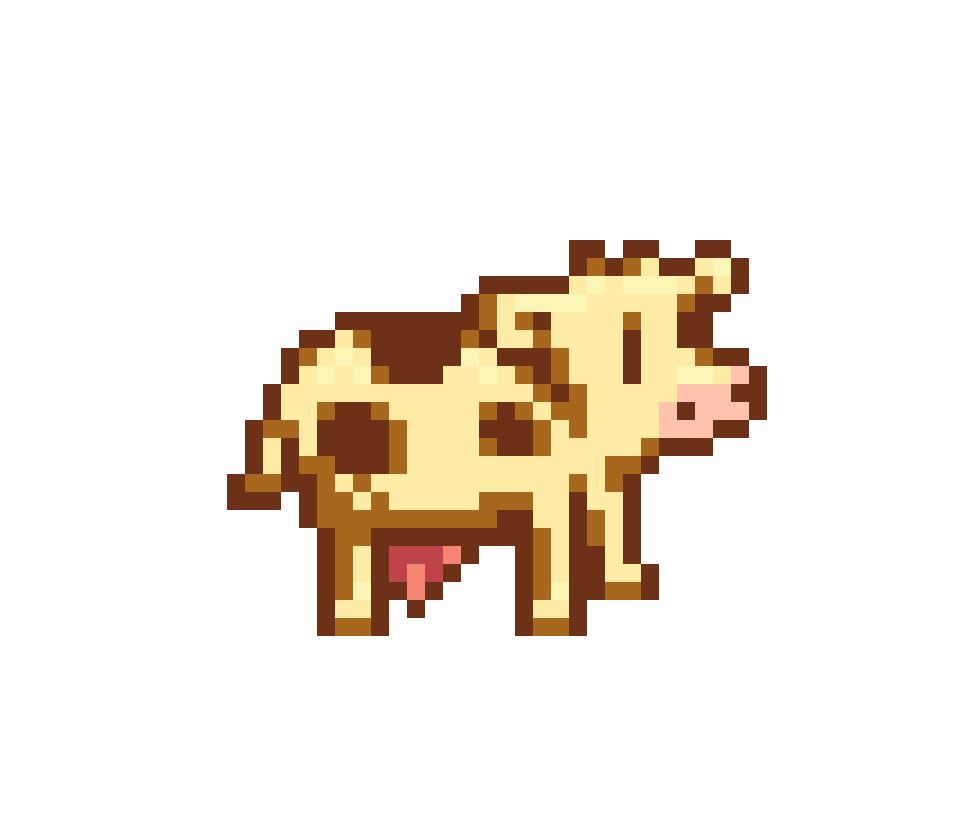Stardew Valley White Cow Cross Stitch Pattern Etsy In 2021 Pixel Art Pattern Pixel Art Anime Pixel Art