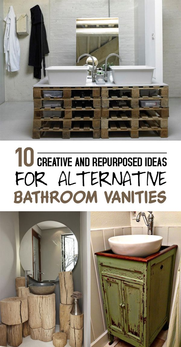 10 creative and repurposed ideas for alternative bathroom vanities best diy projects diy. Black Bedroom Furniture Sets. Home Design Ideas