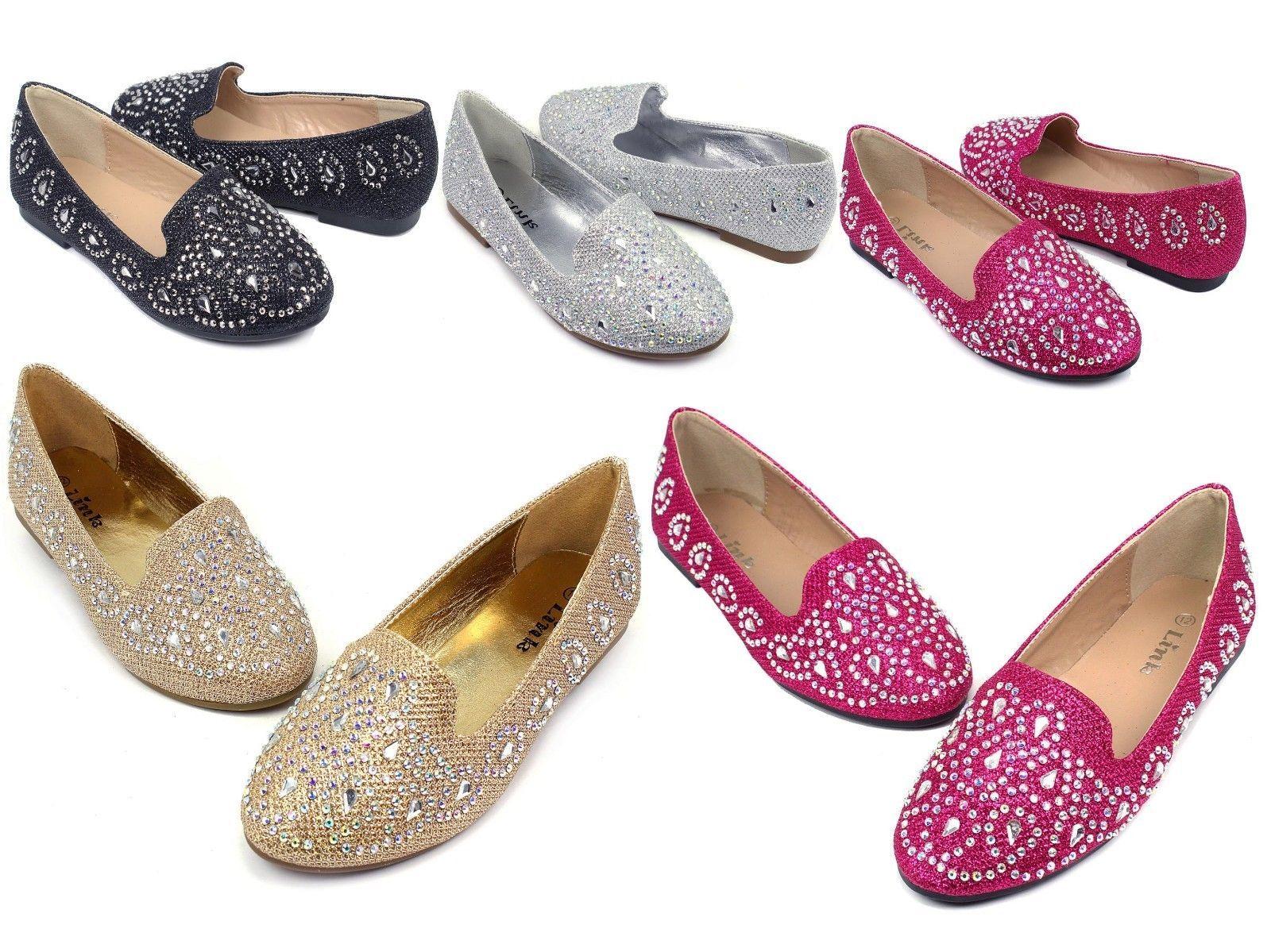 a11f09d2789  12.59 - Lonita-74K Kids Youth Blink Cute Flats Party Wedding Church Girl s  Shoes