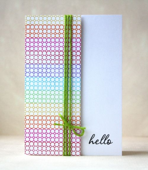 Love the colors and the dots!