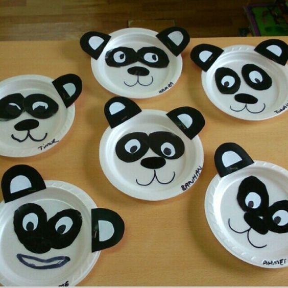 paper plate panda craft idea for kids & paper plate panda craft idea for kids | Preschool activities ...