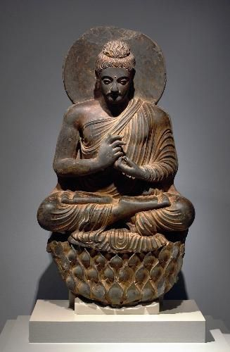 Buddha, Northwest India or Pakistan, Kushan Period, 2nd-3rd century    Carnegie Museum of Art, Pittsburgh, Located in the Art before 1300 Gallery