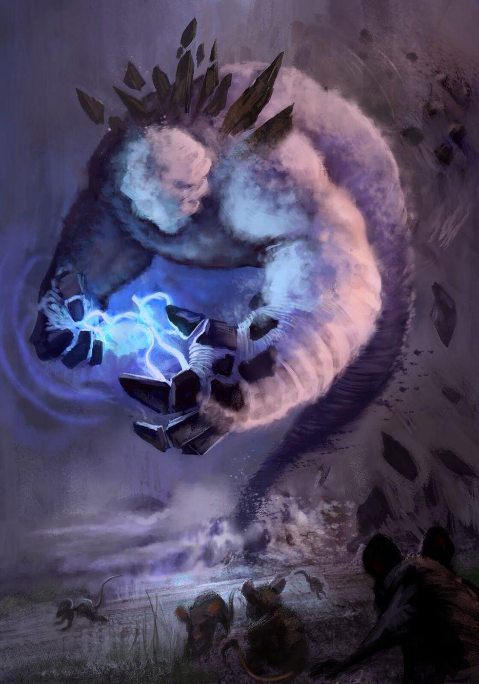 Image of a thunder spirit.