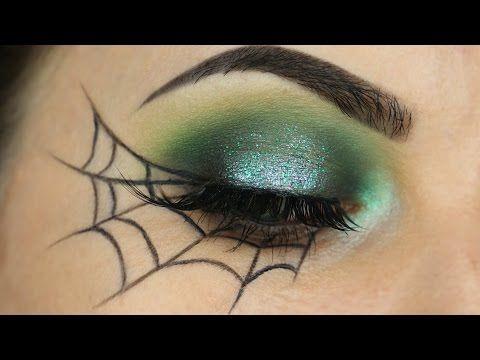 spider web eyeliner tutorial  youtube  halloween eye