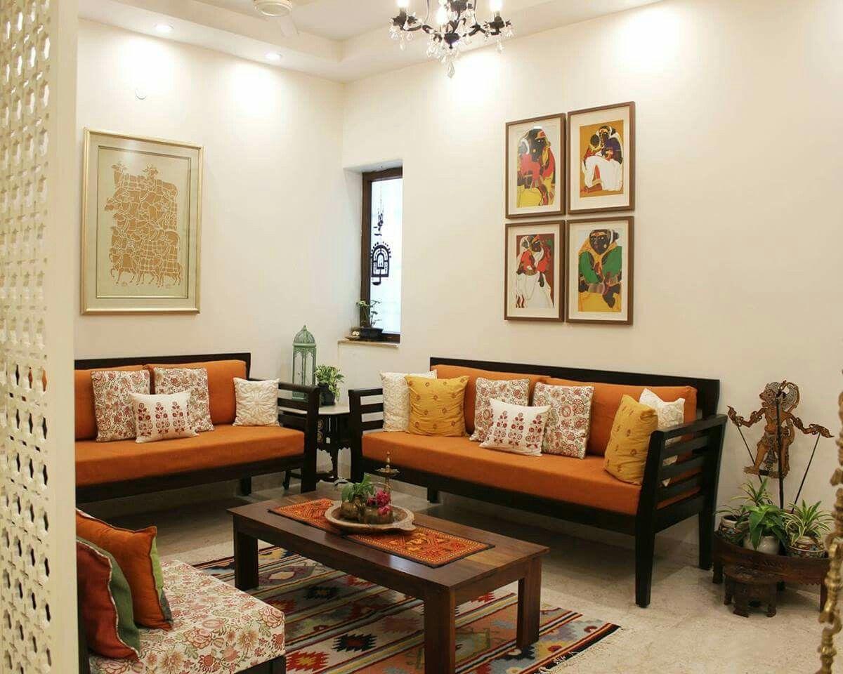 Pin By Swathi Kakulamarri On Home Decos Indian Living Rooms