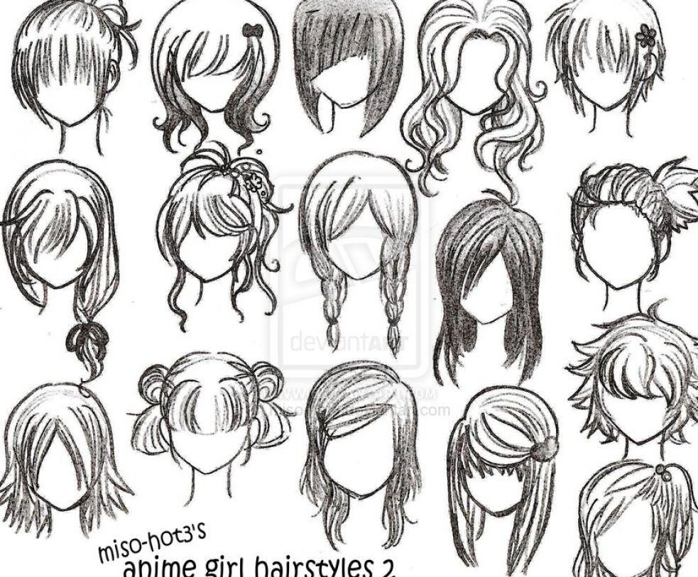 Easy to Draw Emo Hair howtodrawanimegirlhairstylesg