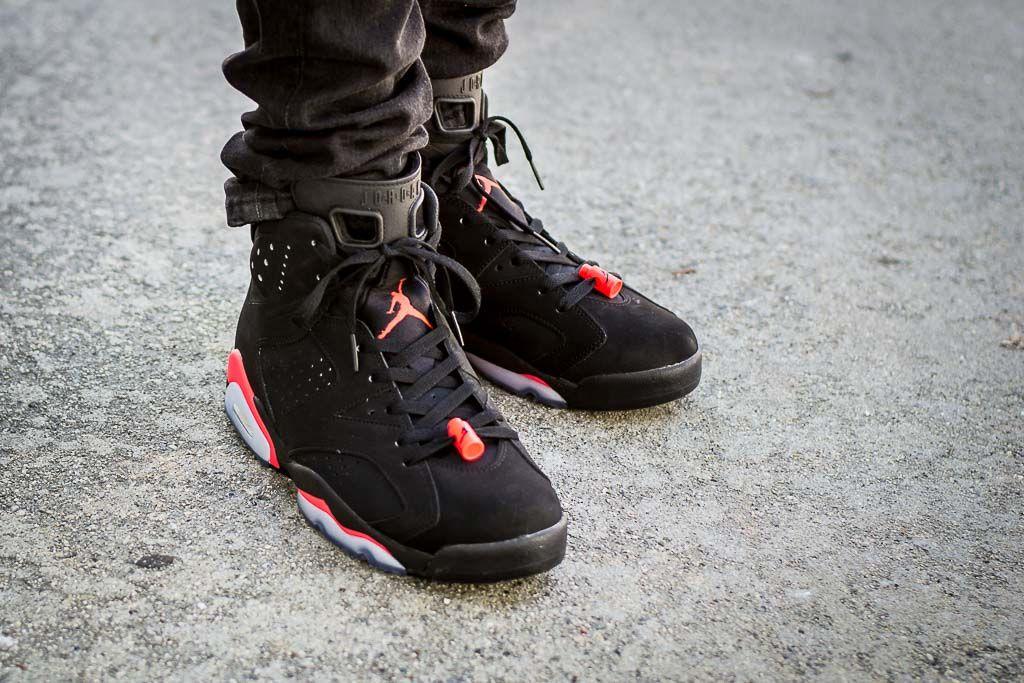 Air Jordan 6 Black Infrared On Feet Sneaker Review Air Jordans Sneakers Jordans