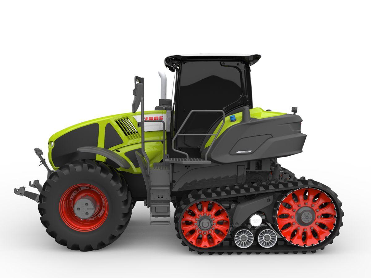Axion 900 Terra Trac Halbraupentraktor Mit Vollfederung Der Gesamtmaschine Traktoren Traktor Schlepper