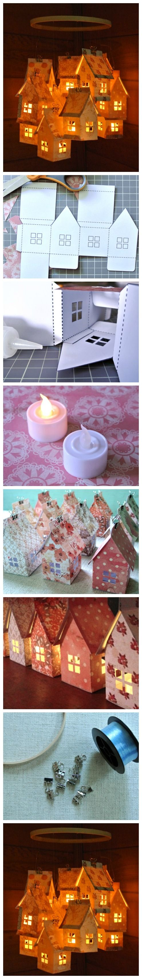 Paper House Luminaries and Mobile is part of diy_crafts - videos  Credits goes to the original author of this great […]