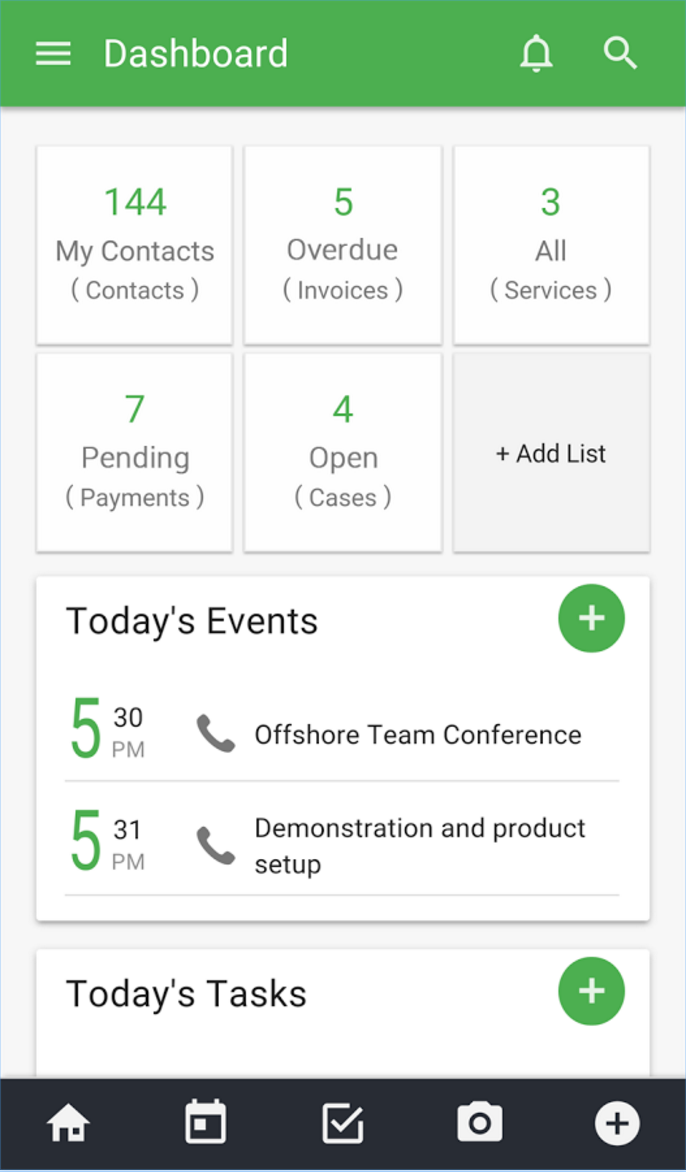 The New Vtiger CRM Mobile App Shows You Upcoming Events And Tasks - Invoice en español