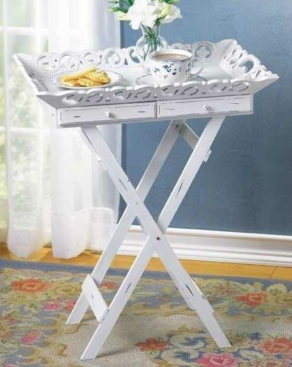 Those Dreary Tv Dinner Tables Instant Vintage Side Table Project Shabby Chic Tray Shabby Chic Side Table Vintage Side Table